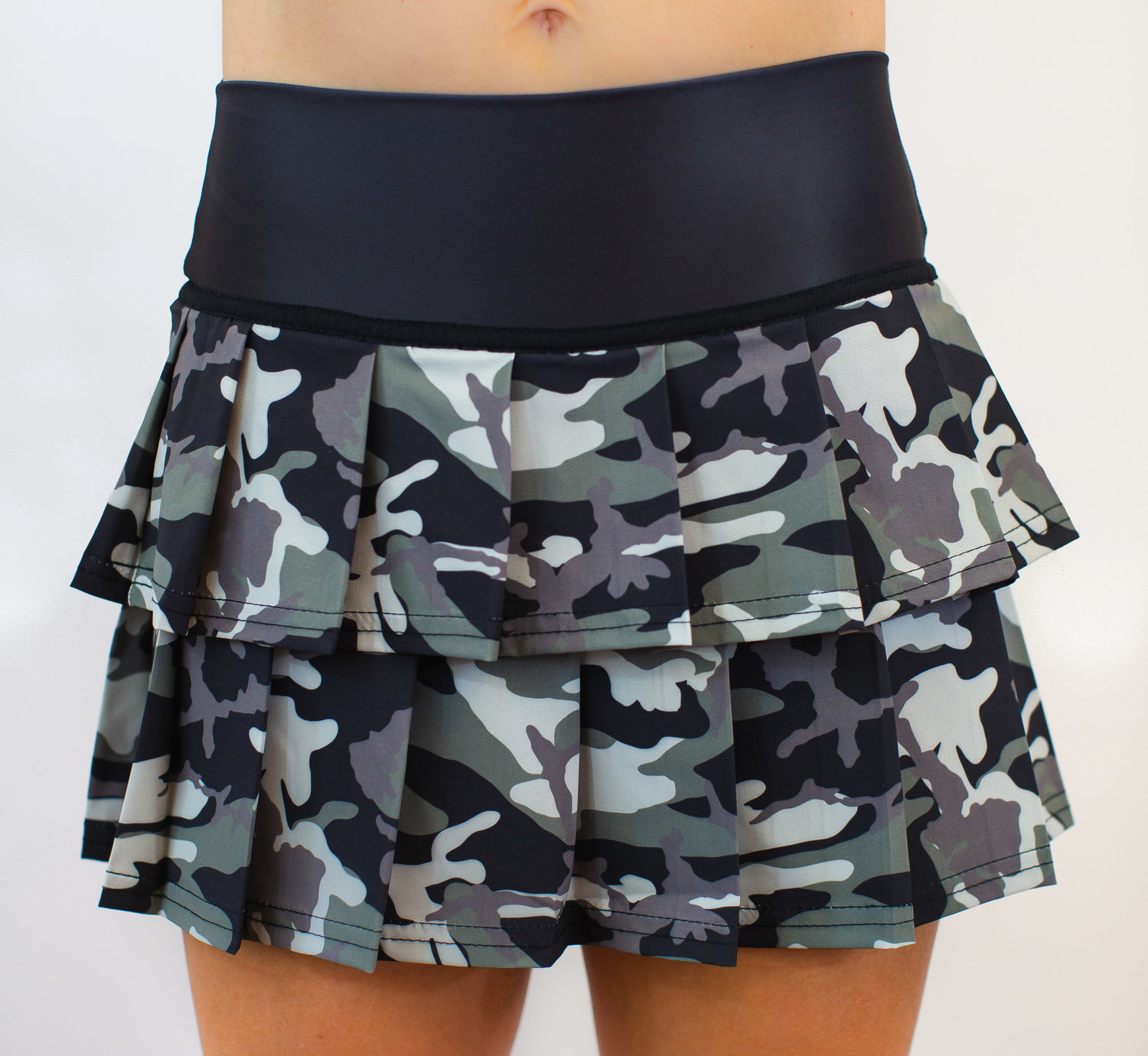 Faye+Florie Piped Racer Tennis Shirt Camo, X-Small