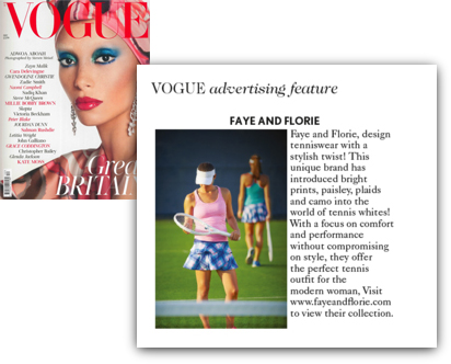 Faye+Florie Featured In British Vogue